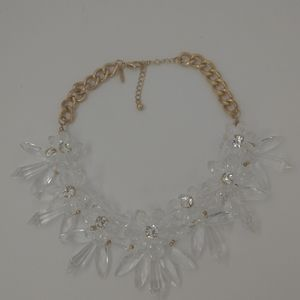 Natasha clear and gold necklace